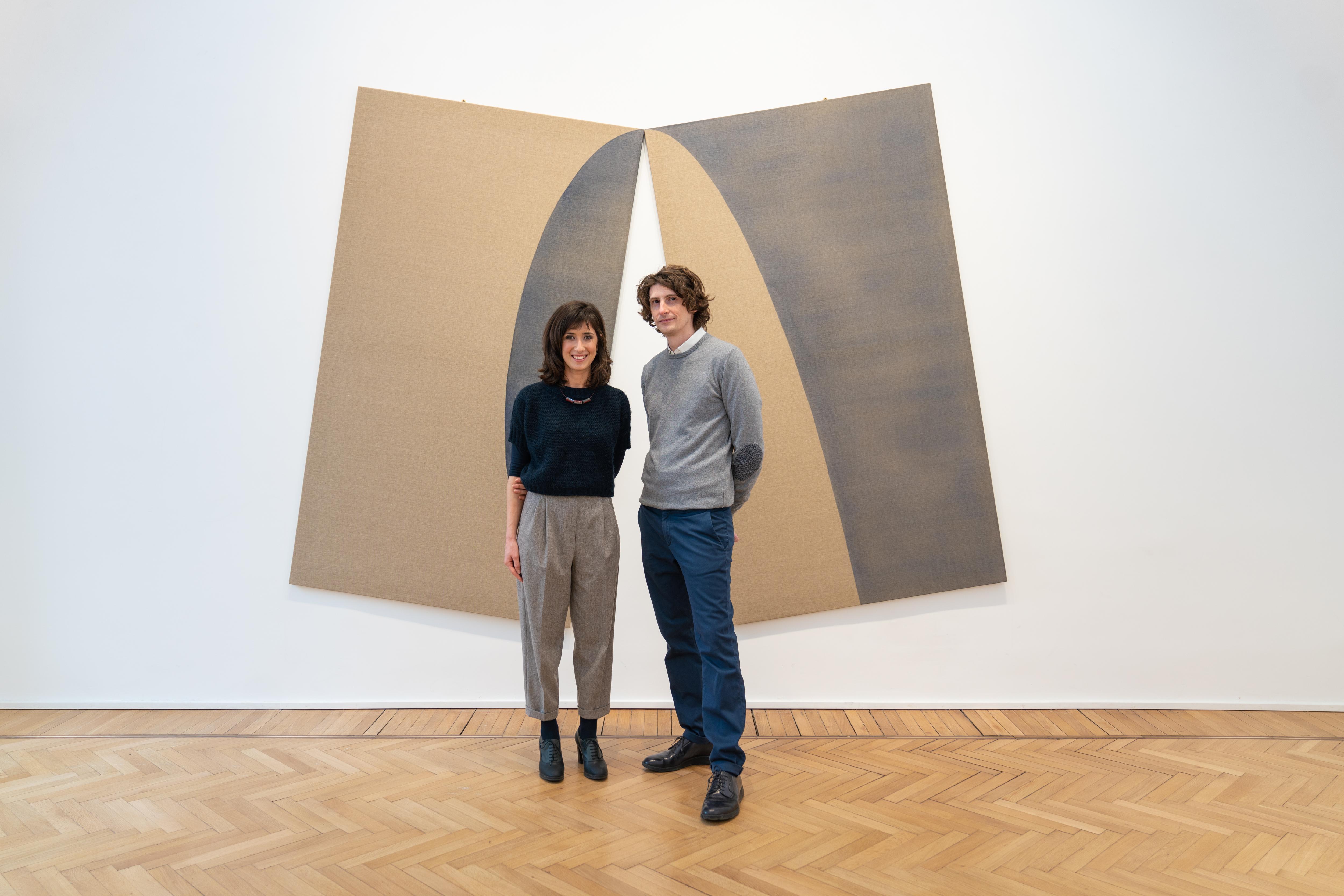 Gli artisti Valentina Ornaghi e Claudio Prestinari alla mostra Toccante, Galleria Continua di Roma. (Courtesy Galleria
