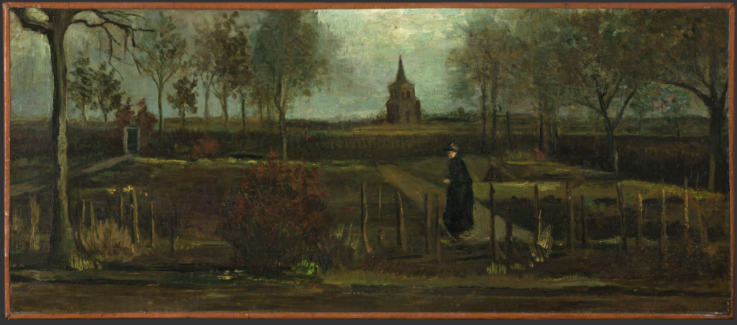 Vincent van Gogh, The Parsonage Garden at Nuenen in Spring (1884). ©Groninger Museum.