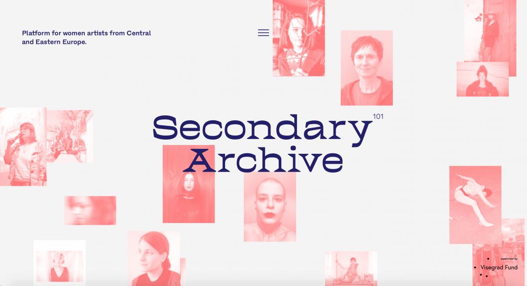L'homepage di Secondary Archive, l'archivio online che raccoglie l'arte delle artiste del centro e dell'est Europa.