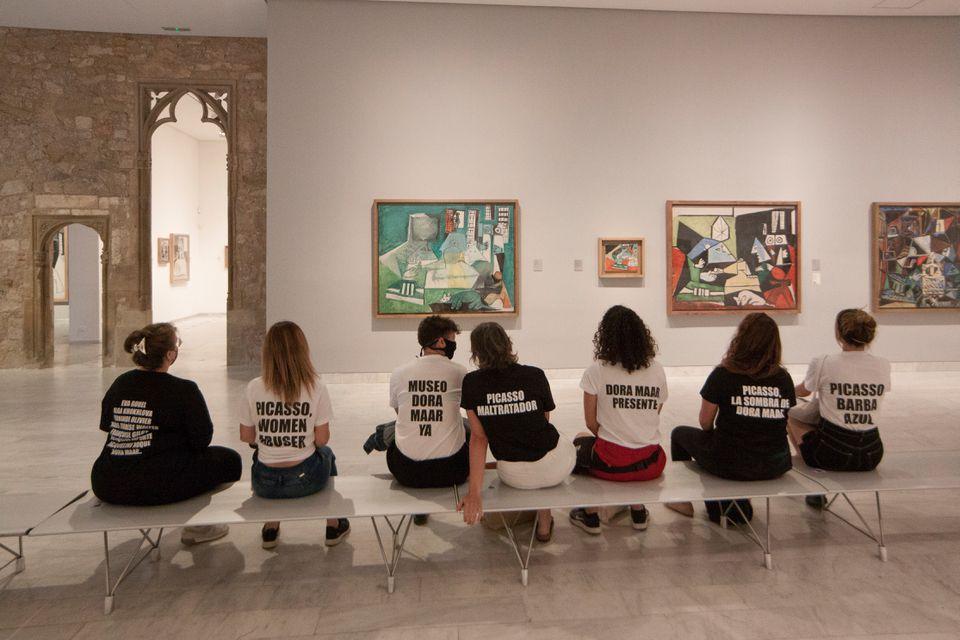 protesta museo picasso