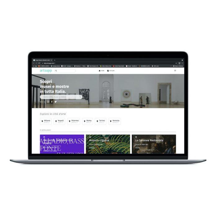 Il nuovo sito di Artsupp, per accedere rapidamente a tutte le ultime iniziative dei musei d'Italia (per cortesia Artsupp).