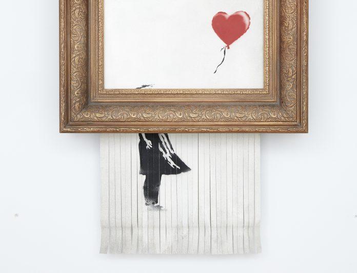 Love is in the Bin banksy