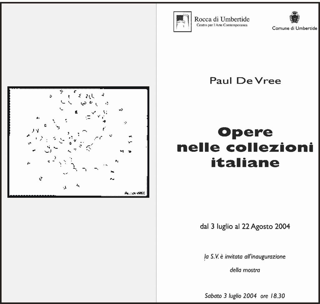 size 40 89e33 0fa83 Paul De Vree / Paola Mattioli -