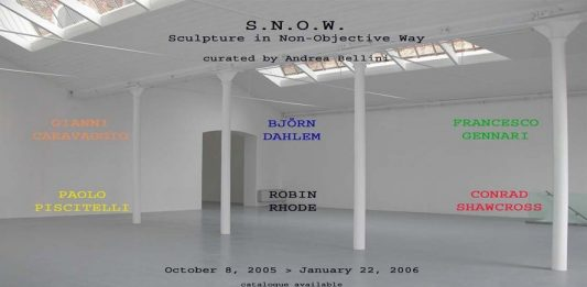 S.N.O.W. – Sculpture in Non-Objective Way