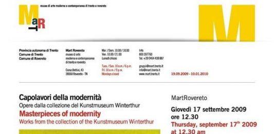 Capolavori della modernità. Opere dalla collezione del Kunstmuseum Winterthur