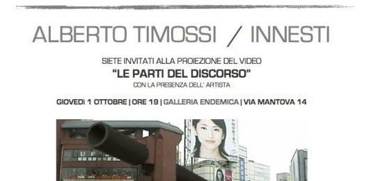 Alberto Timossi – Innesti. Le parti del discorso