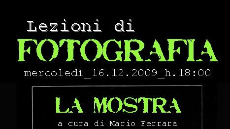 Lezioni di Fotografia #2 – La Mostra
