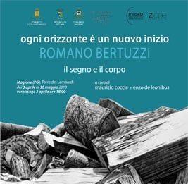 Romano Bertuzzi – Ogni orizzonte è un nuovo inizio. Il segno e il corpo