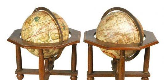 Mappe e vedute Planisferi Continenti Italia Toscana