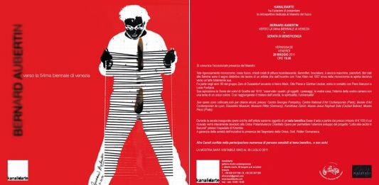 Bernard Aubertin verso la 54ma Biennale di Venezia più serata di beneficenza