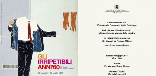 Gli irripetibili anni '60. Un dialogo tra Roma e Milano
