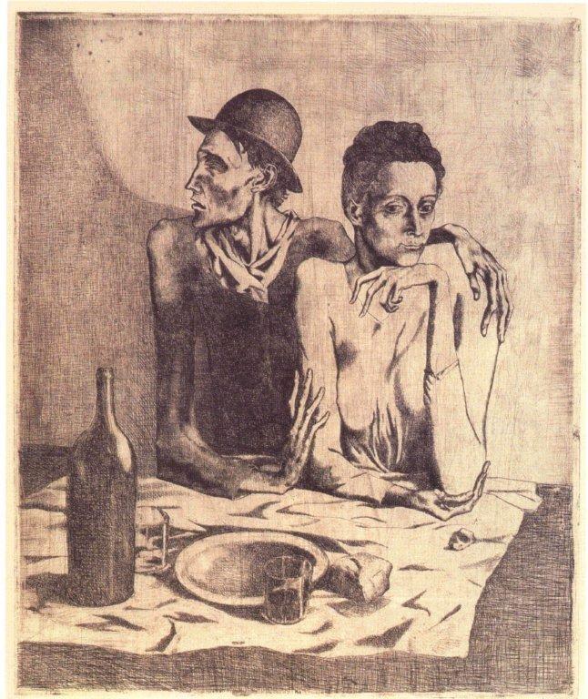 Pablo Picasso - I Saltimbanchi - exibart.com