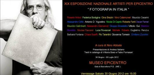 """XIX Esposizione Nazionale Artisti per Epicentro """"Fotografia in Italia"""""""