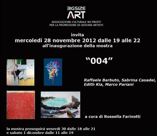 004 | Quattro artisti in mostra per Big Size Art