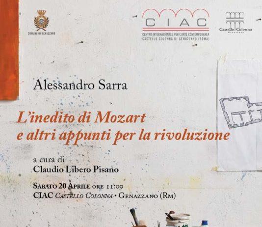 Alessandro Sarra  – L'inedito di Mozart e altri appunti per la rivoluzione