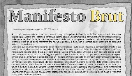 """Manifesto Brut la """"Menzogna"""""""