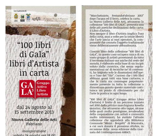 100 libri di Gala – libri d'Artista in carta