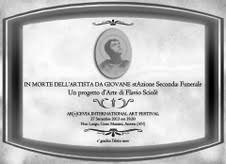 Flavio Sciolè – In morte dell'artista da giovane stAzione seconda