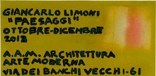 Giancarlo Limoni – Paesaggi 2008-2013