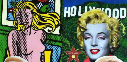 "Icons of Pop Art, ""then and now"""