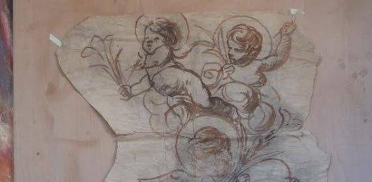 La bottega del sacro di Tiburzio Donadon: il maestro e Giancarlo Magri, l'ultimo garzone