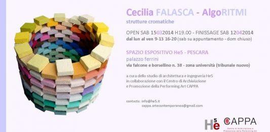 Cecilia Falasca – AlgoRITMI – strutture cromatiche