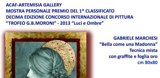 Mostra Premio al 1° classificato alla decima edizione del concorso internazionale Trofeo G.B.Moroni 2013