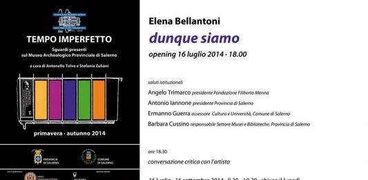 Tempo Imperfetto#3 – DUNQUE SIAMO / Elena Bellantoni