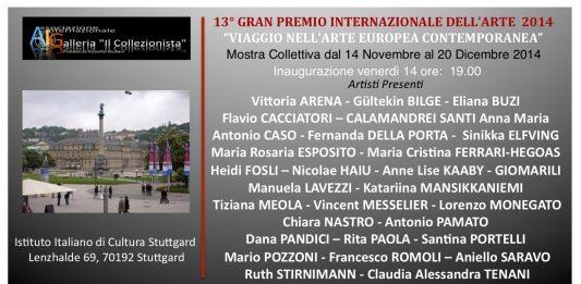 13° Gran premio Internazionale dell'Arte 2014. Viaggio nell'Arte Europea contemporanea