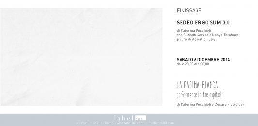 Caterina Pecchioli / Cesare Pietroiusti – La pagina bianca, performance in 3 capitoli