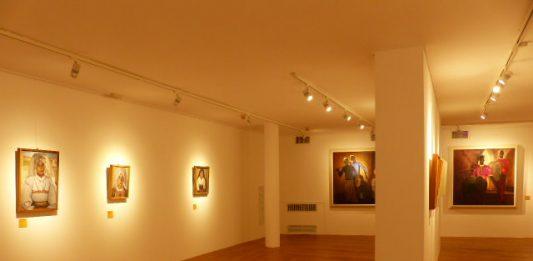 Giuseppe Biasi – Paesaggio con ritratto