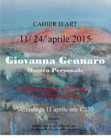 Giovanna Gennaro – Cahiers d'art
