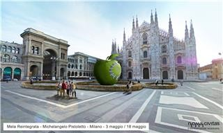 Michelangelo Pistoletto  – Terzo Paradiso. La mela reintegrata