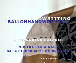 Alejandrina Solares – Balloonhandwritting blue