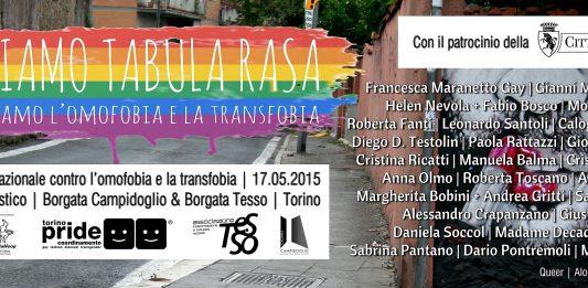 Flash Mob Artistico Facciamo Tabula Rasa Cancelliamo l'Omofobia e la Transfobia