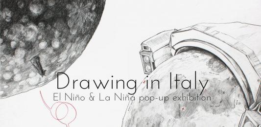 Drawing in Italy. El Niño e la Niña