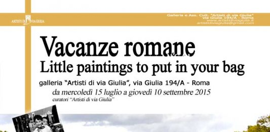 Vacanze Romane. Little paintings to put in the bag