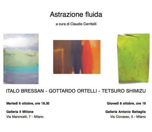 Bressan | Ortelli | Shimizu – Astrazione fluida