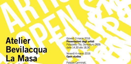 Atelier BLM 2016. Artists' Talk & Open Studios