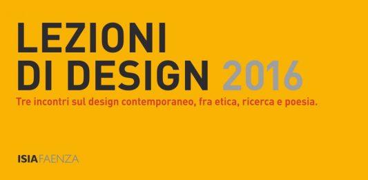 Lezioni di design 2016