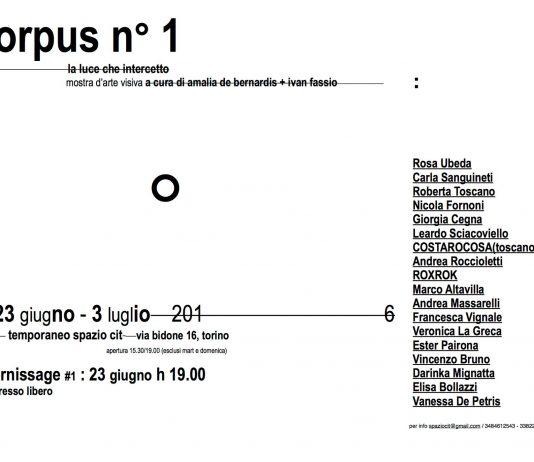 Corpus n°1 – La luce che intercetto