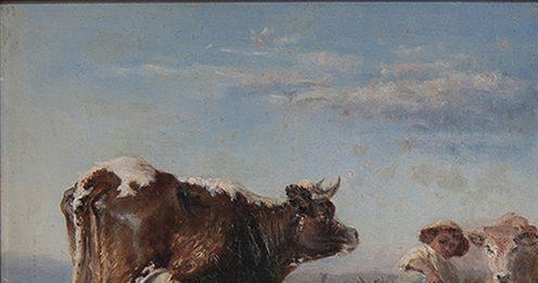 Mietiture.  Le vacche brune di Nicola Febo, Giuseppe Palizzi e Giovanni Segantini