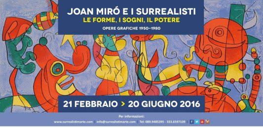 Serata evento Joan Mirò e i Surrealisti –  Le Forme, i Sogni, il Potere.