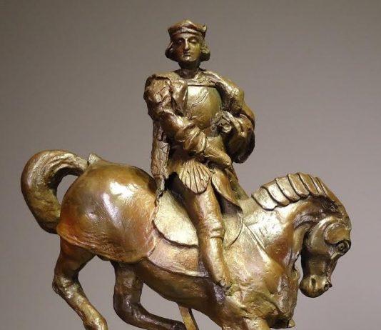 Leonardo scultore. Horse and rider