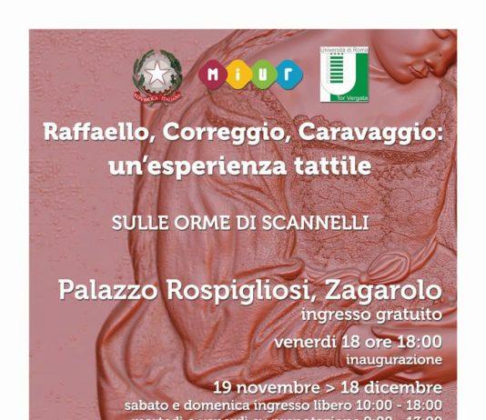 Raffaello, Correggio, Caravaggio: un'esperienza tattile
