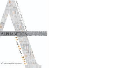Alphabetica – Abecedario grafico contemporaneo