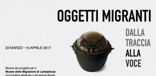 Giuseppe Basile – Oggetti Migranti. Dalla traccia alla voce