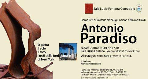 Antonio Paradiso – La pietra, il volo, il toro Pinco, le putrelle resti delle Twin Towers