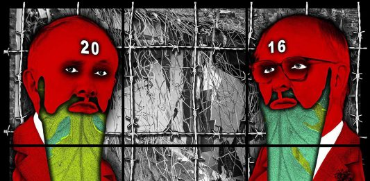 Gilbert & George  – The beard pictures
