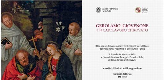 Gerolamo Giovenone – L'Adorazione del Bambino con i Santi Francesco d'Assisi e Antonio da Padova